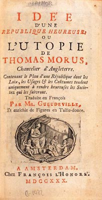 L'Utopie de Thomas More.