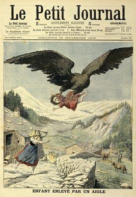 Enlevement d'un enfant par un aigle.