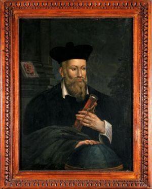 Portrait de Michel de Nostredame, dit Nostradamus.