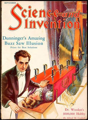 «Dunninger's Amazing Buzz Saw Illusion».