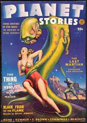 Space Girl et Bug Eyed Monster.