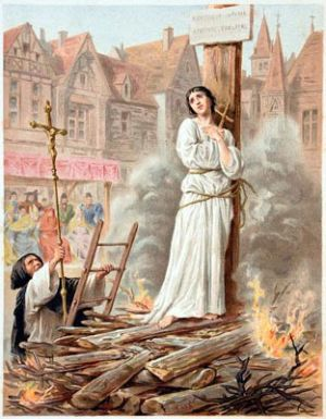 Supplice de Jeanne d'Arc, 1431.