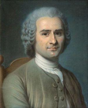 Celebre pastel de Jean-Jacques Rousseau attribue a Maurice-Quentin de La Tour.
