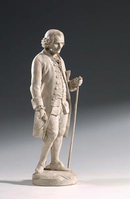 Statuette en platre de Jean-Jacques Rousseau, selon Suzanne.
