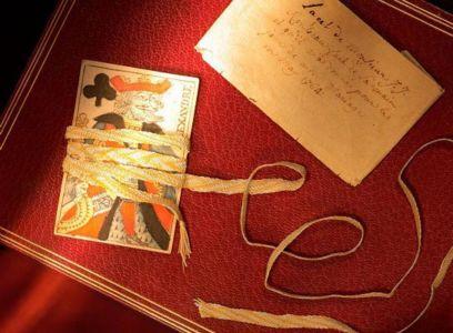 Lacet de soie tresse par Jean-Jacques Rousseau a Motiers.